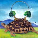 Turtle-Spirit-Animal-painting-by-judith-shaw